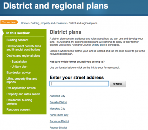 The Auckland Council function to find the previous relevant local authority for your property