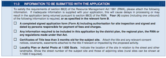 A Locality Plan is to be Submitted with Every Resource Consent Application for Auckland Council